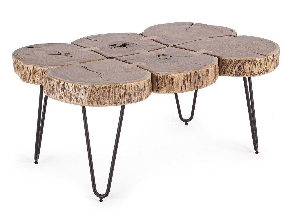 Masivní akátový konferenční stolek Bizzotto Edgar 90x60 cm