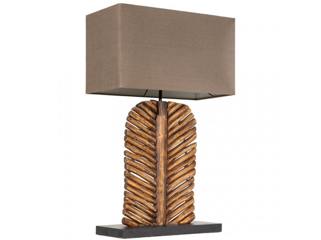 Hnědá stolní lampa Listot