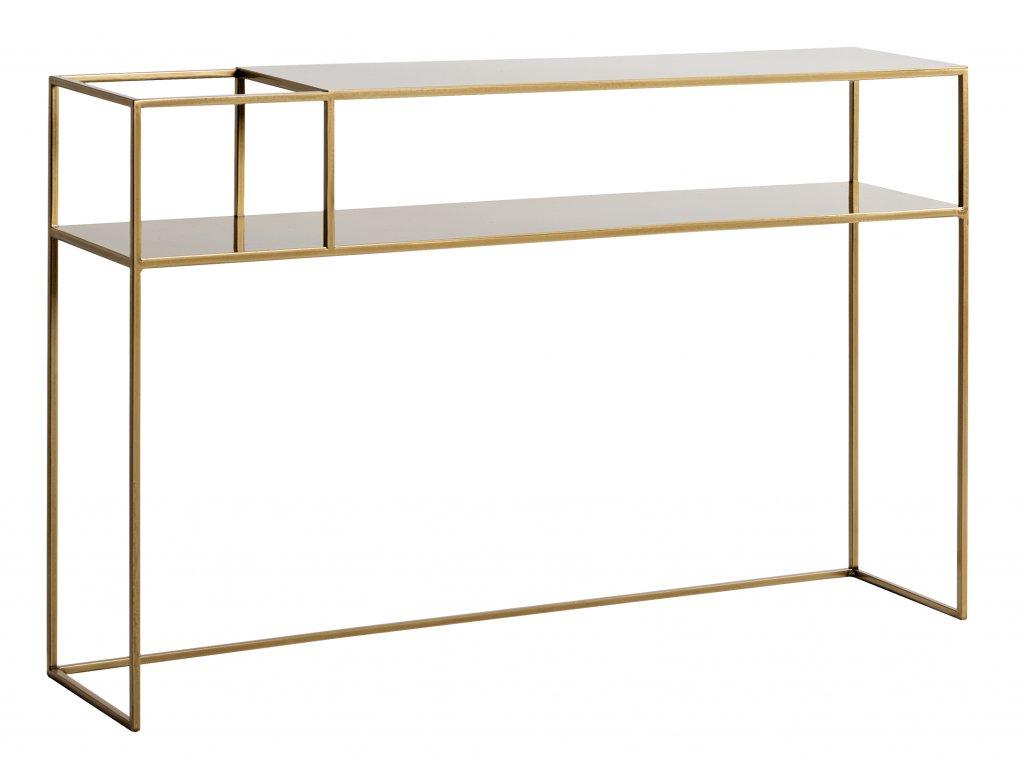 Zlatý kovový toaletní stolek Moreno 120 cm x 25 cm