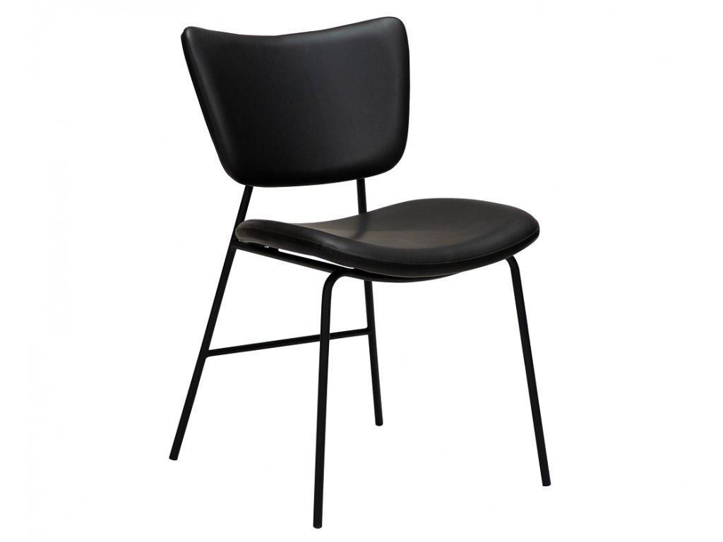 Černá koženková jídelní židle DanForm Thrill