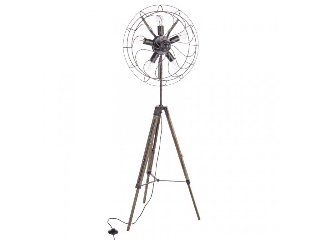 Černá kovová stojací lampa Bizzotto Air Black Tripod 167 cm