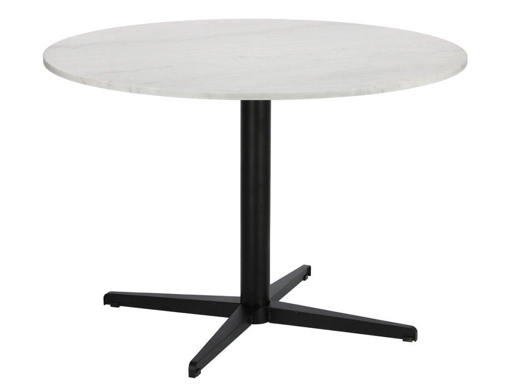 Bílý mramorový kulatý jídelní stůl RGE Accent 110 cm