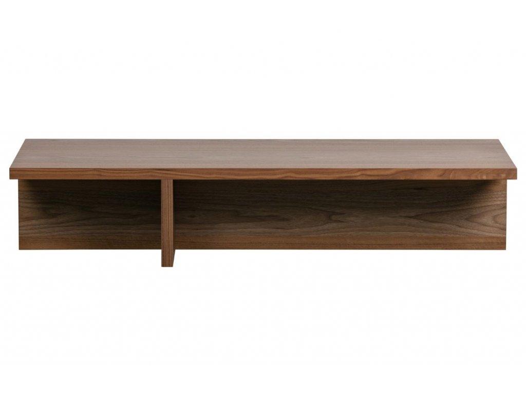 Ořechový konferenční stolek Skinner 135 x 49 cm