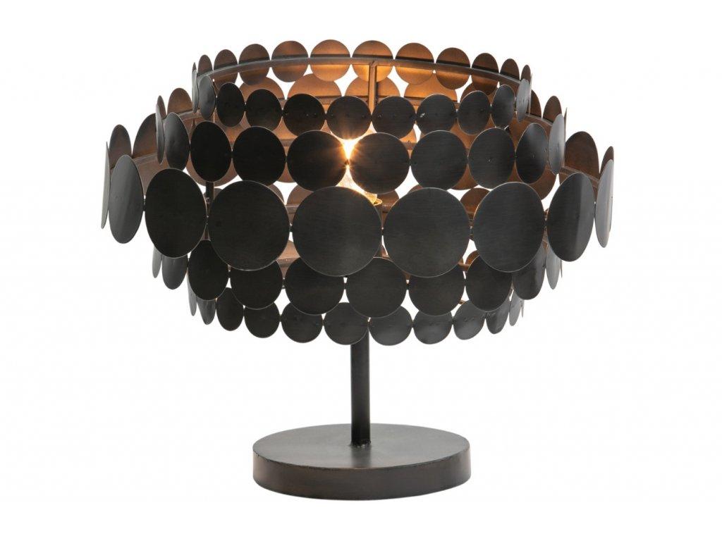 Černá kovová stolní lampa Dots