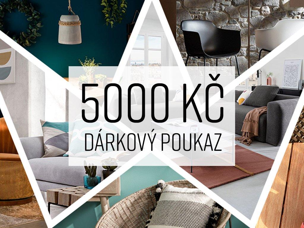 Dárkový poukaz 5 000 Kč