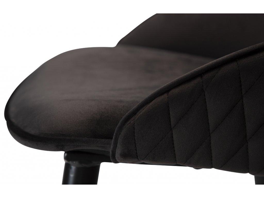 Černá sametová barová židle DanForm Dual 66 cm