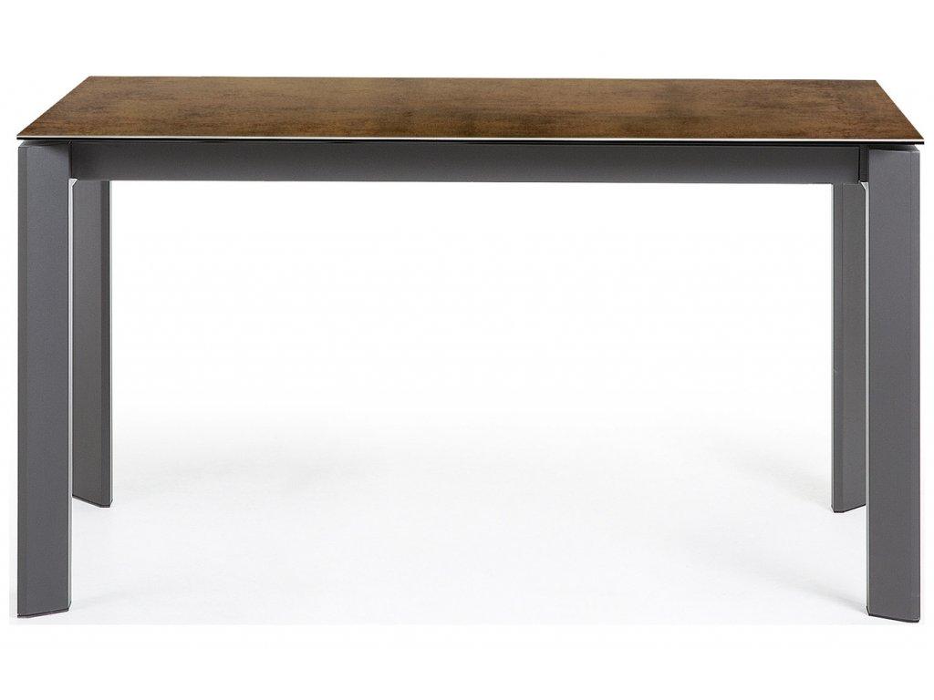 Hnědý porcelánový rozkládací jídelní stůl LaForma Atta 140/200x90 cm