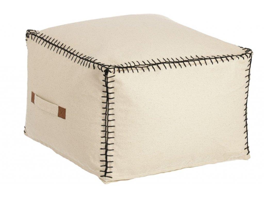 Béžový látkový puf LaForma Anahi 45 x 30 cm