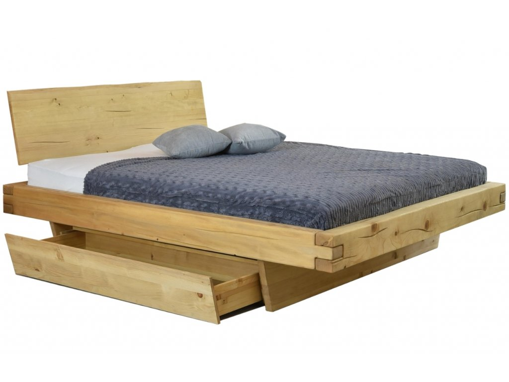 Masivní smrková postel Matteo 160 x 200 cm