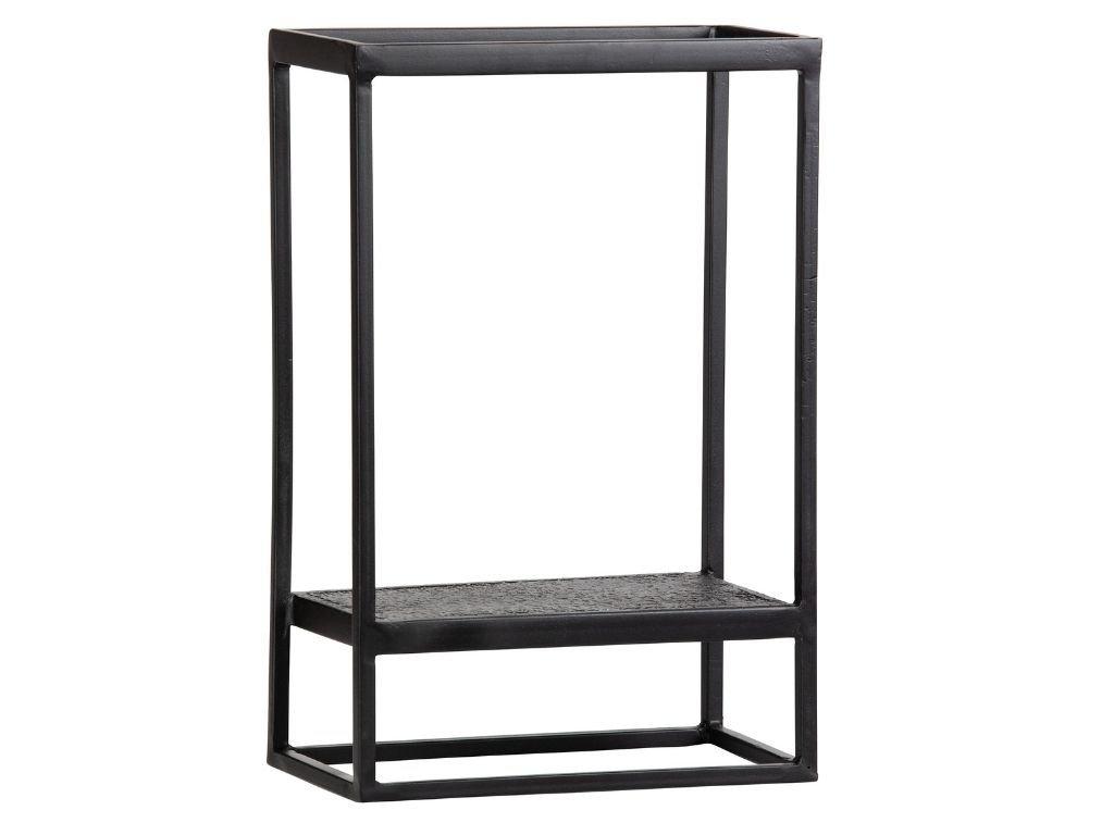 Černá kovová nástěnná police Fabe 60 x 40 cm