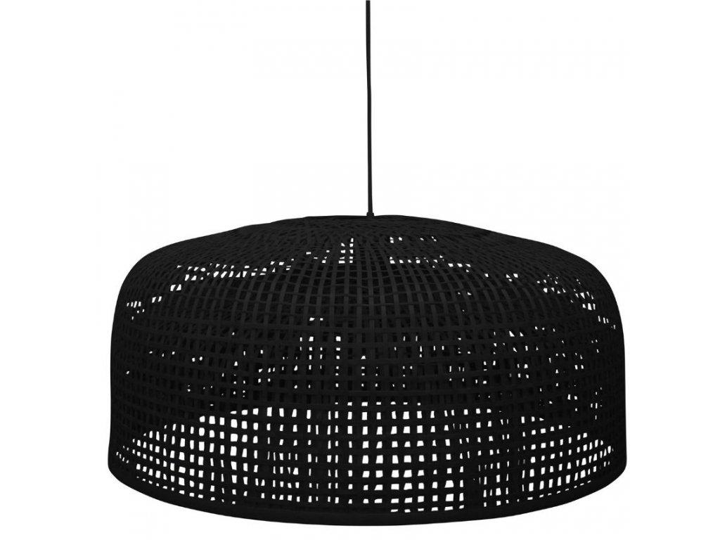 Černé bambusové závěsné svítidlo Daniaal 65 cm848x848