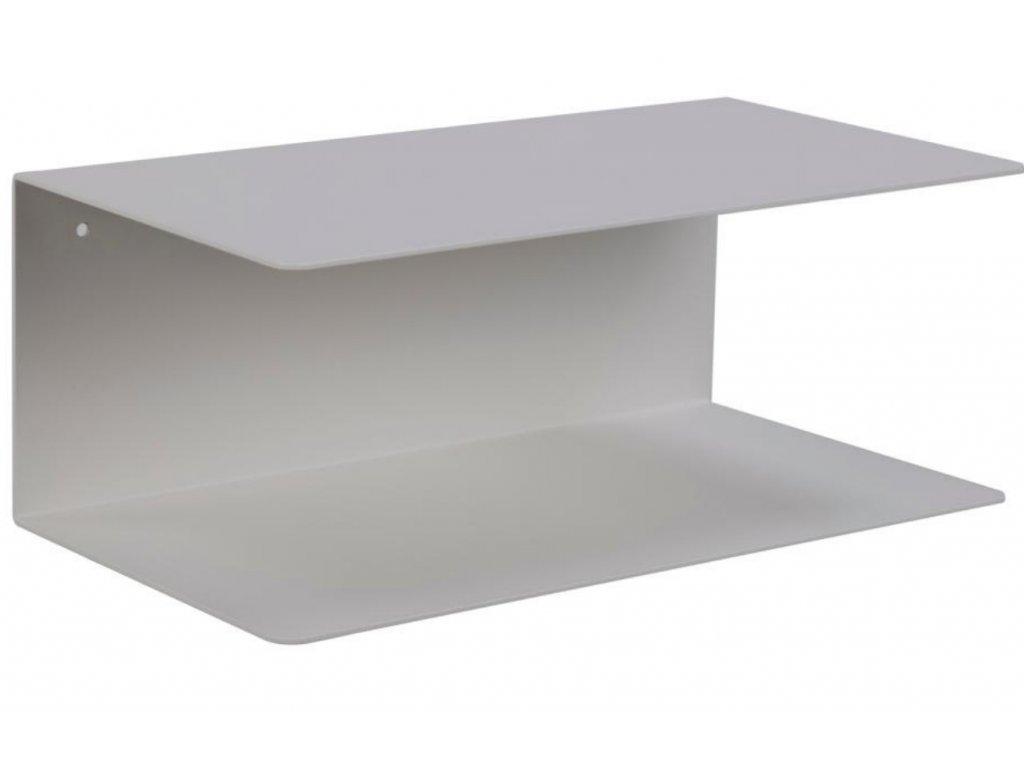 Bílá kovová nástěnná police Zoha 35 cm