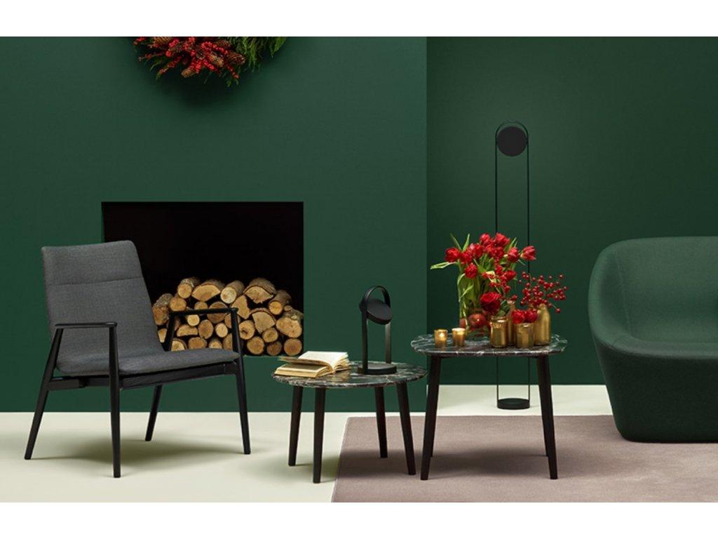 Černá jasanová židle MALMÖ 295