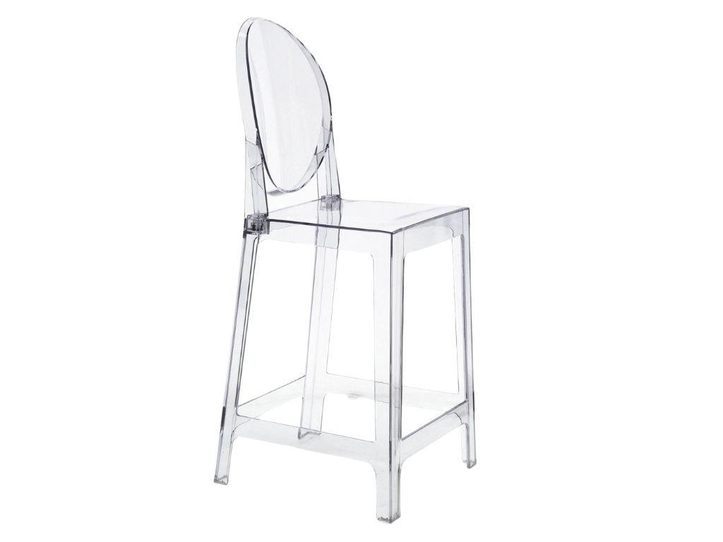 Transparentní plastová barová židle One