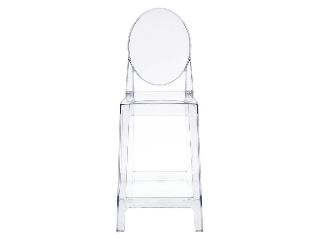 Designová transparentní barová židle One