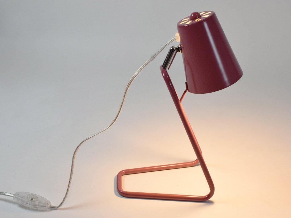 Tmavě růžová stolní lampa Treu