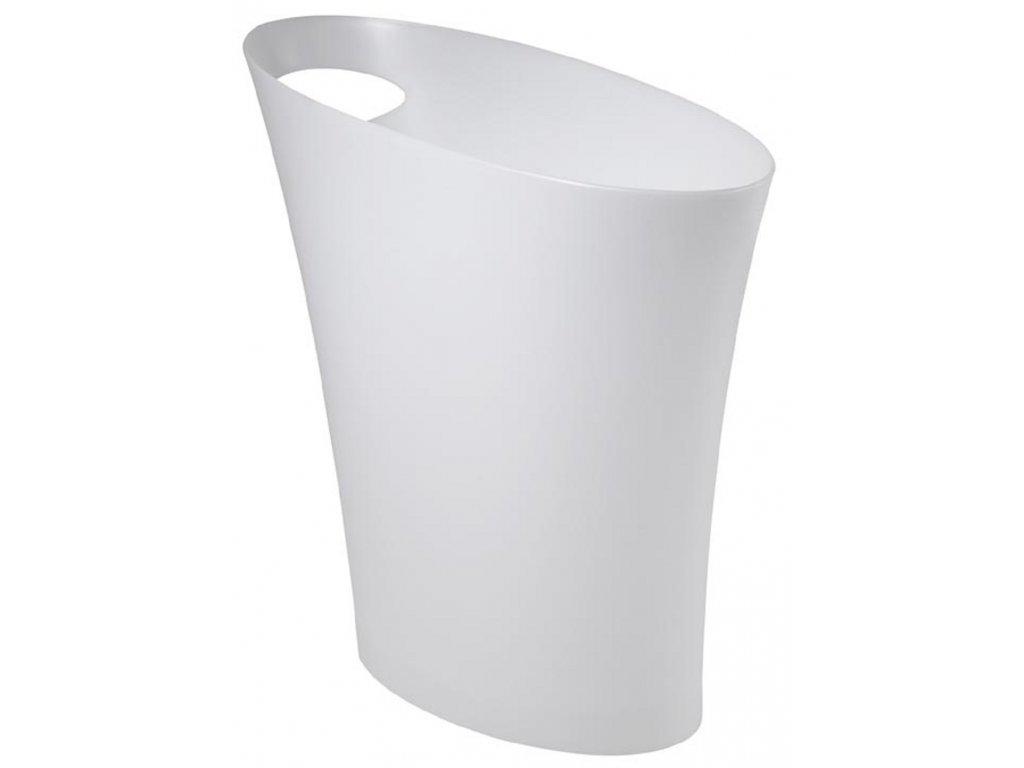 Bílý metalický odpadkový koš Hopper