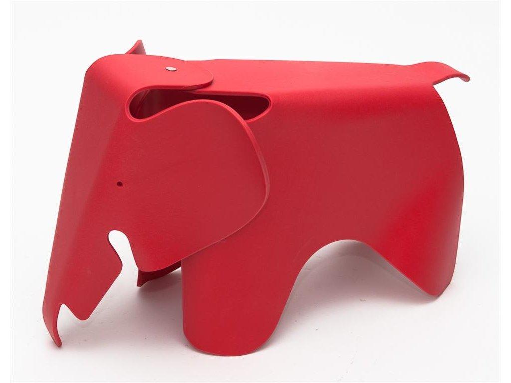 Dětská stolička Slon, červená