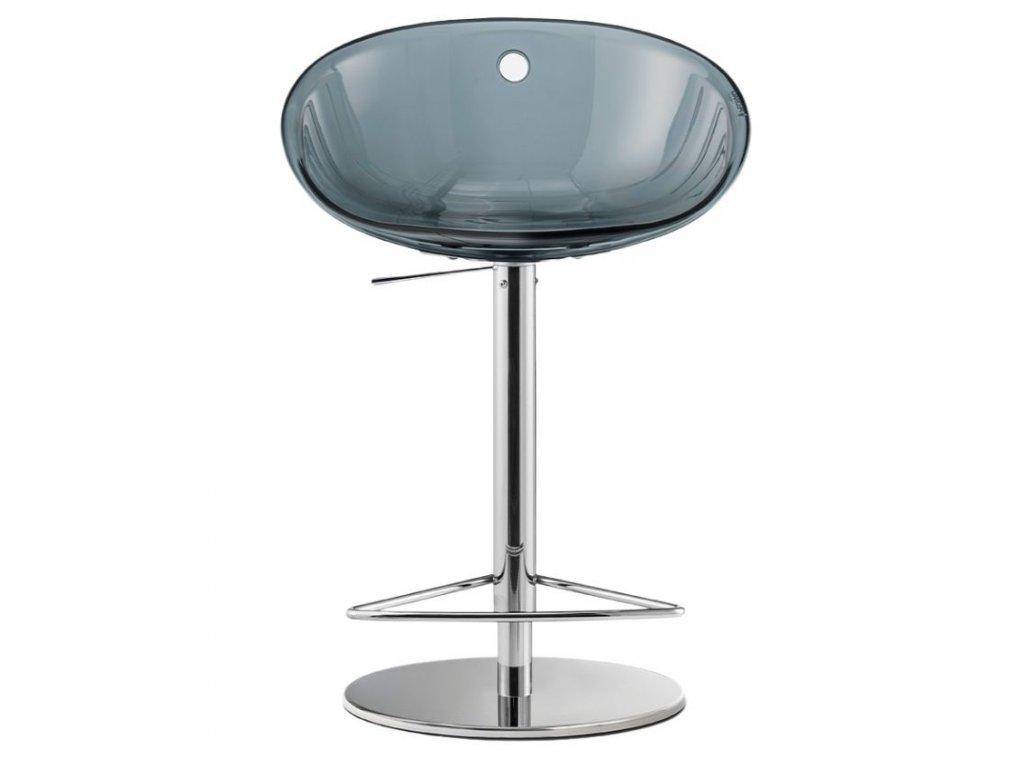Kouřová plastová barová židle Gliss 970 55-81,5 cm