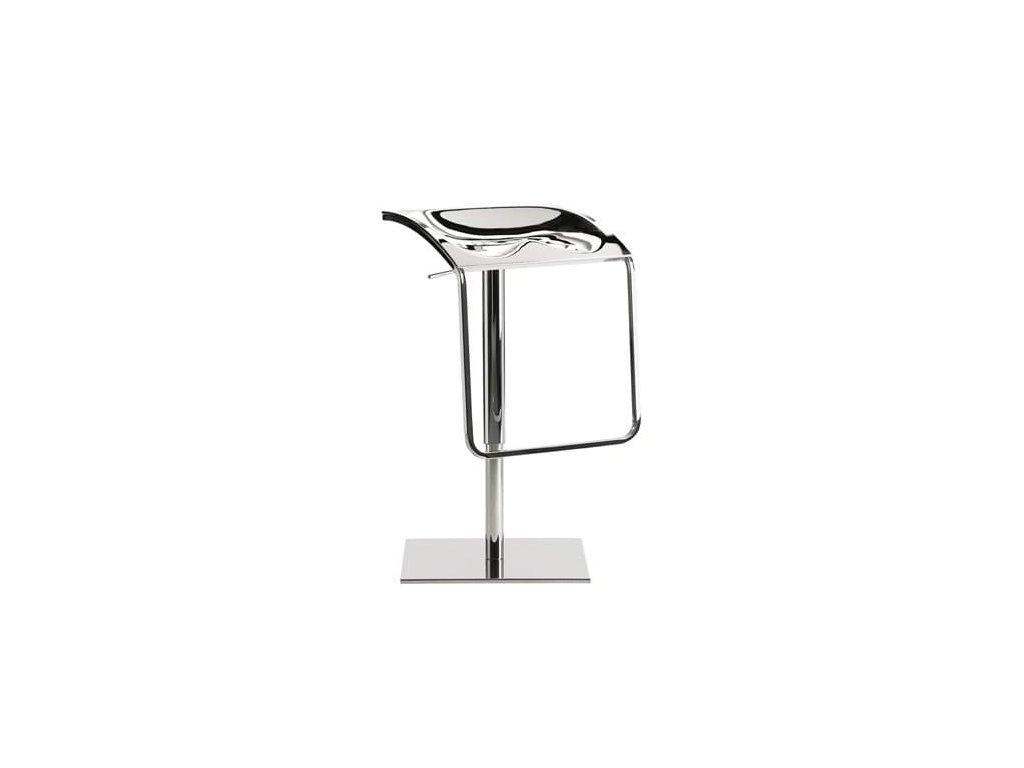 Stříbrná kovová barová židle Arod 570