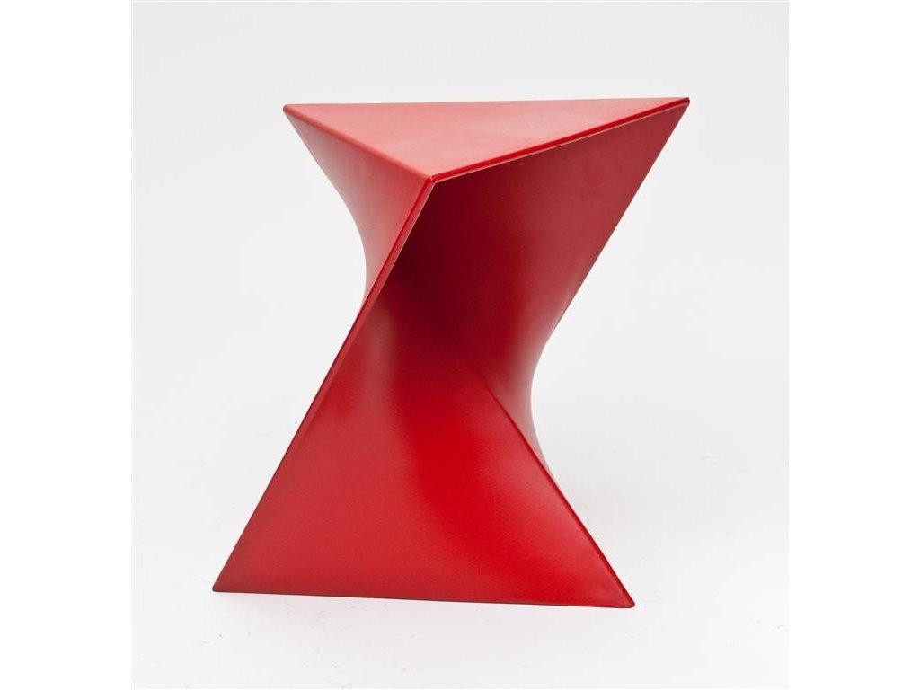 Designový červený stolek Zet z kvalitního plastu