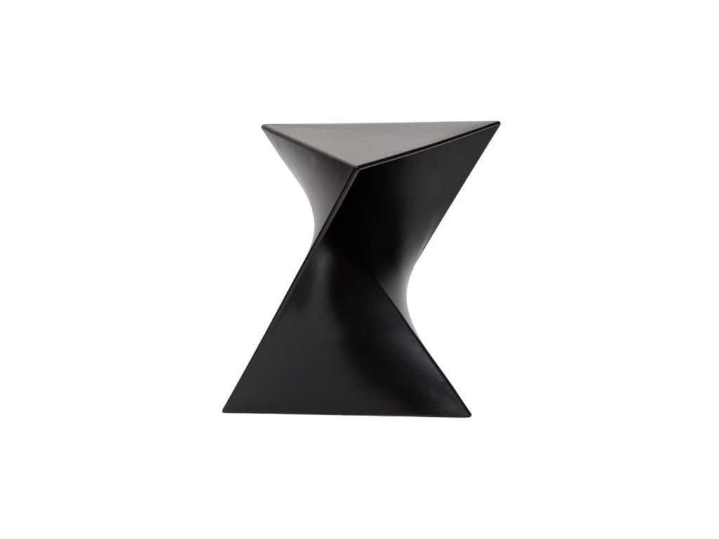 Designový černý odkládací stolek Zet z kvalitního plastu