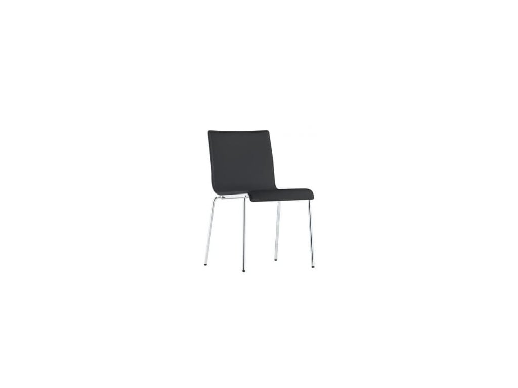 Černá kožená židle Kuadra XL 2463