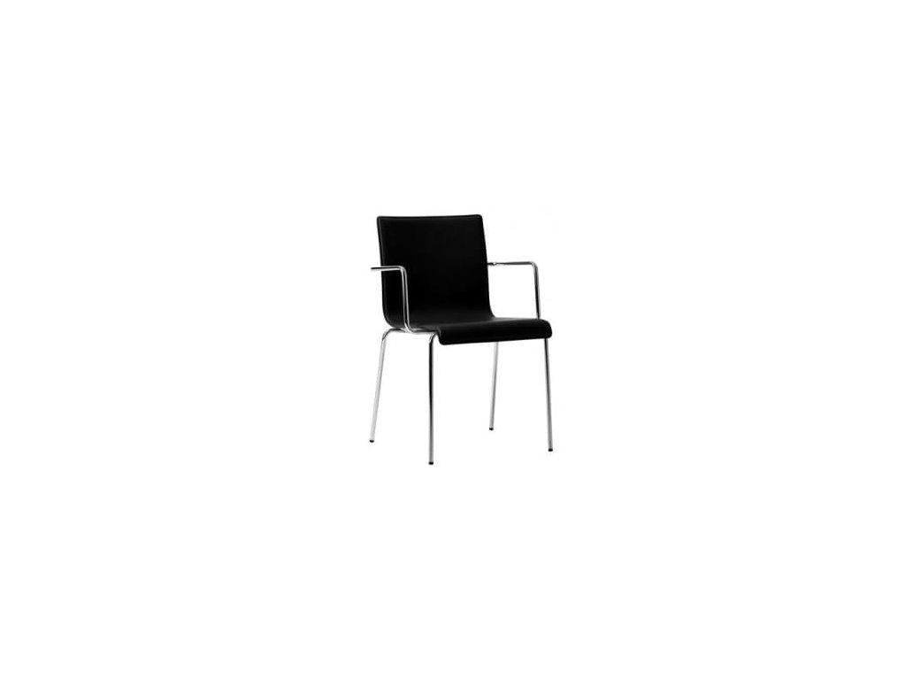 Černá kožená židle Kuadra XL 2464