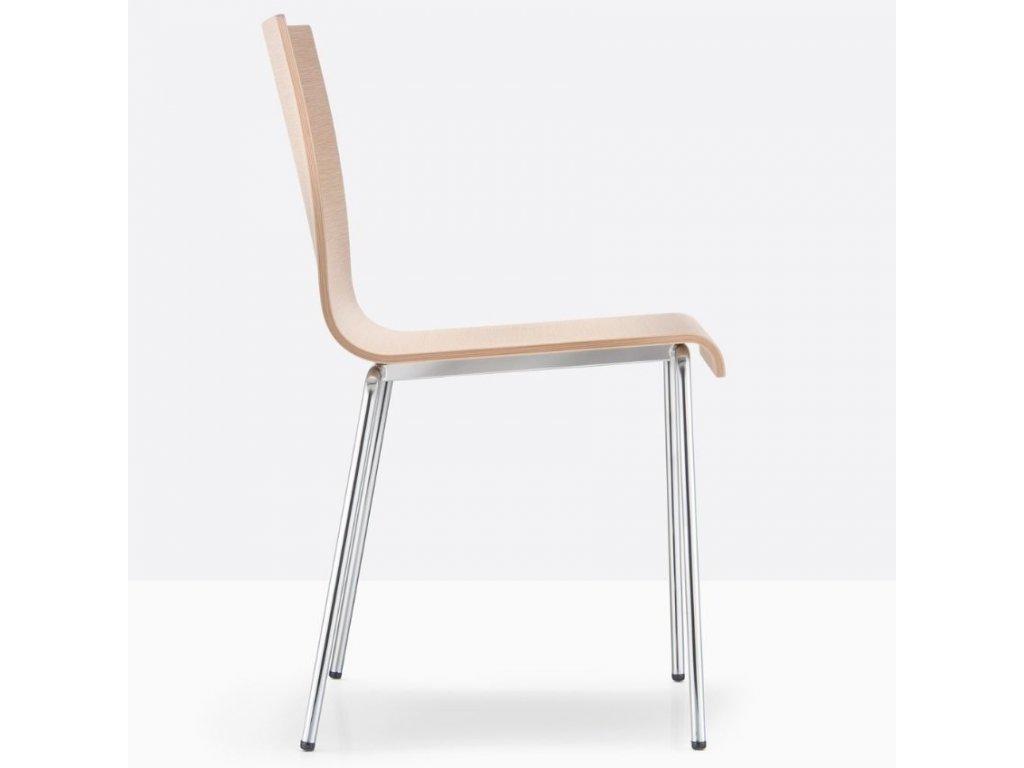 Přírodní dřevěná jídelní židle Kuadra XL 2413