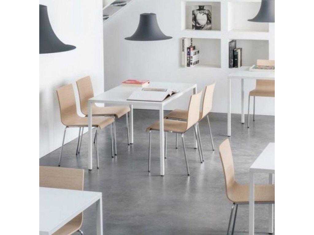 Přírodní dřevěná židle Kuadra XL 2413