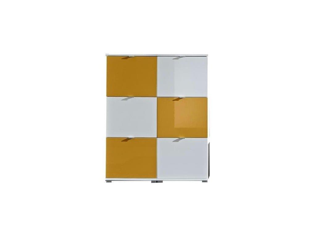 Botníková kombinace Germania Colorado, bílá/ oranžová