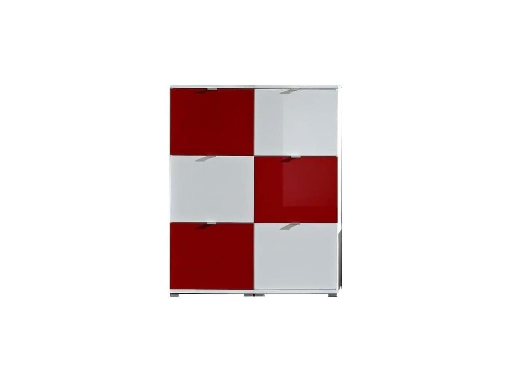 Botníkové kombinace Germania Colorado, bílá/červená
