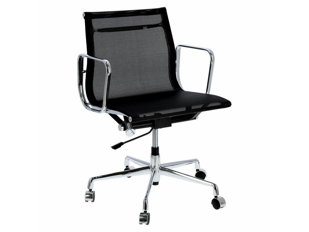 Černé čalouněné kancelářské křeslo Soft Pad Group 117