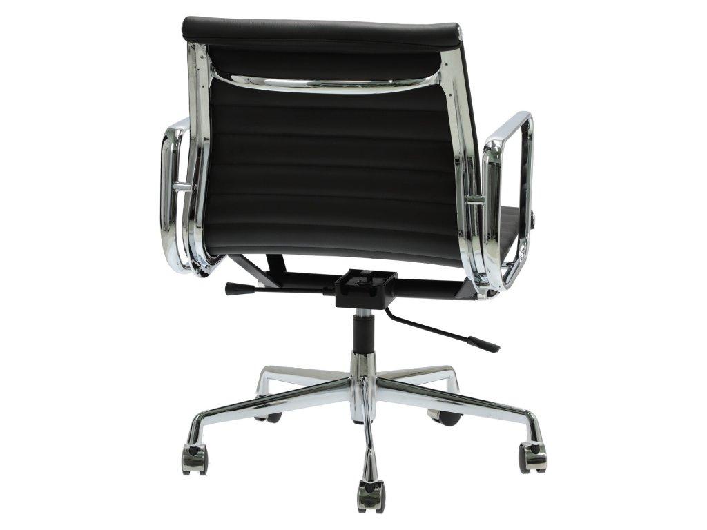 Kancelářské křeslo Soft Pad Group 117, černá kůže/chrom
