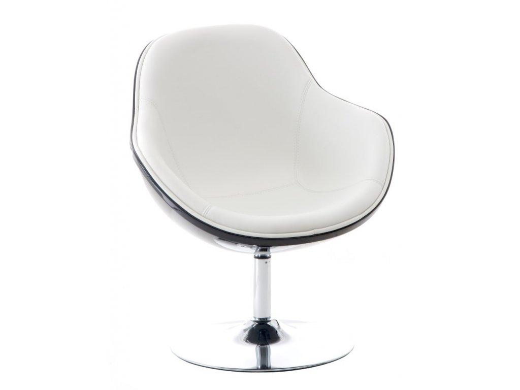 Designové otočné křeslo MARCO, černá/bílá