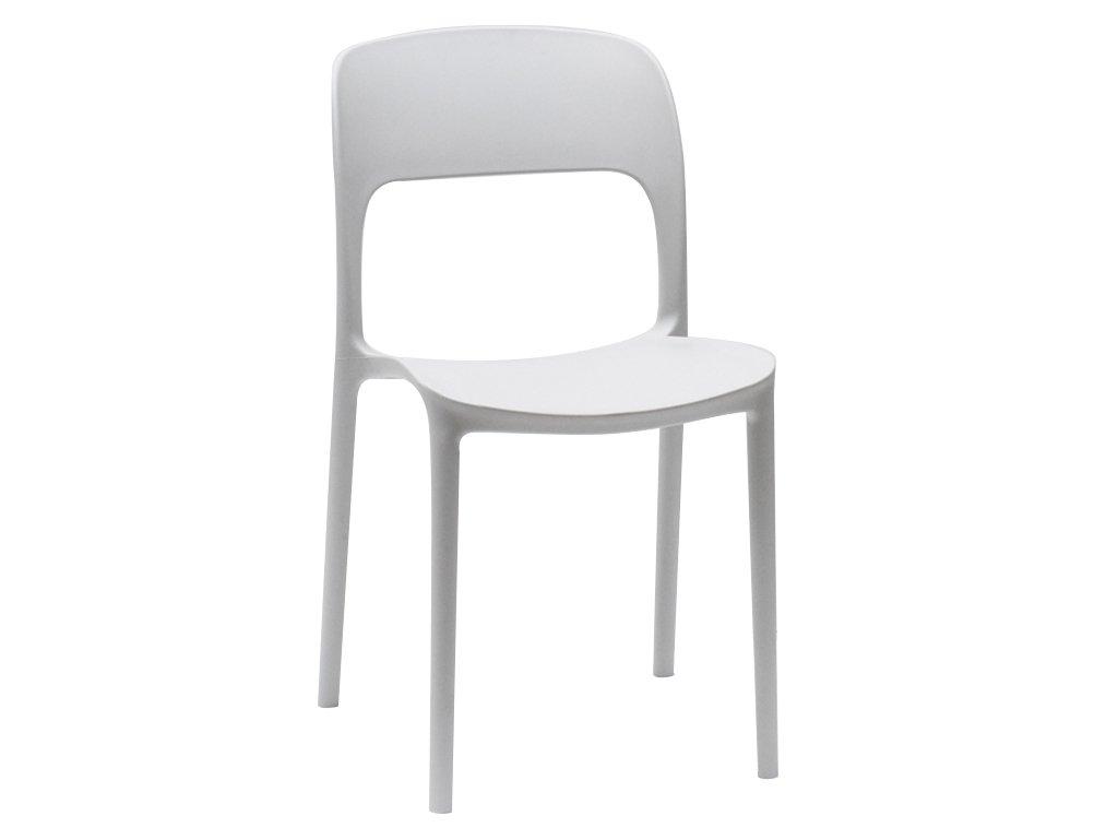 Jídelní židle Lexi plastová bílá