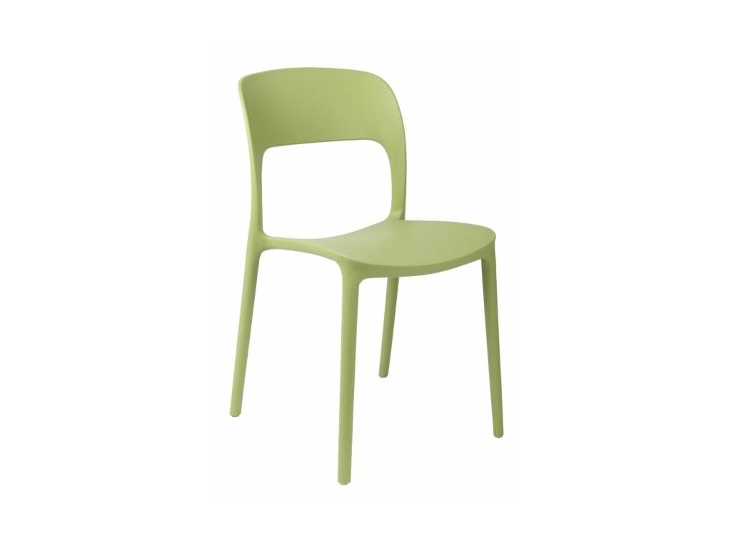 Zelená plastová židle Lexi