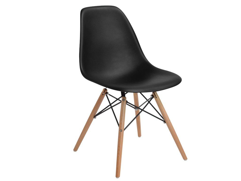 Černá plastová židle DSW