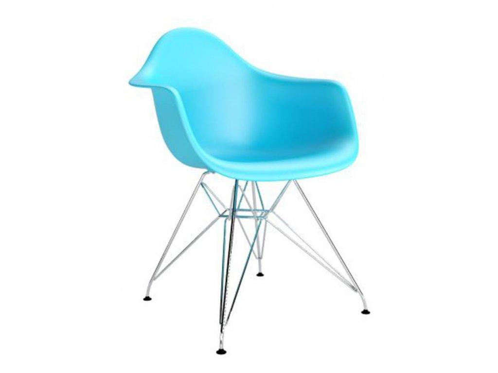 Sky blue plastová židle DAR