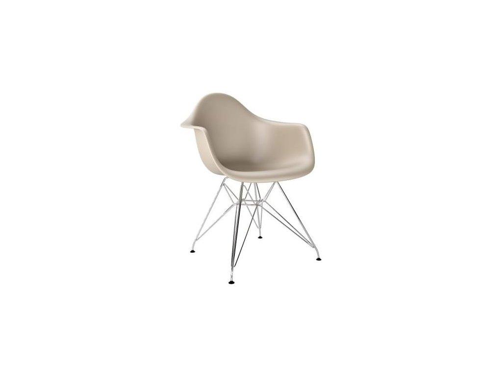 Designová béžová židle DAR z kvalitního plastu