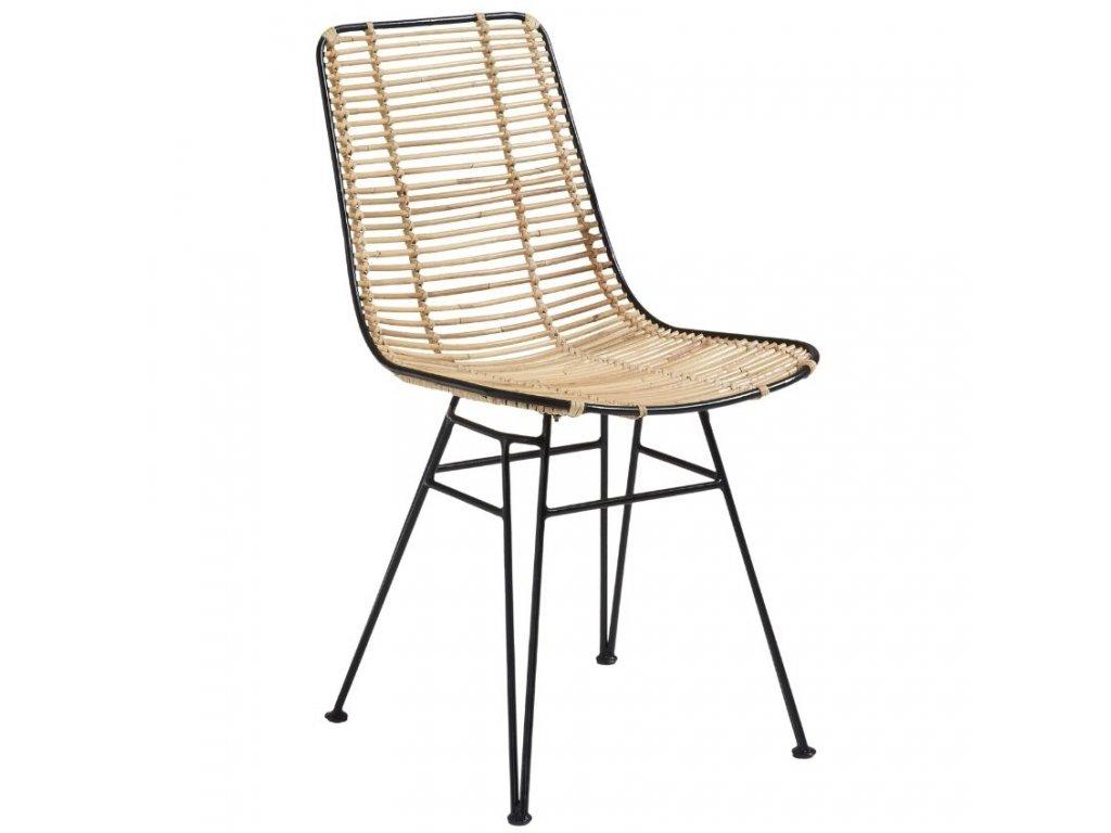 Černá ratanová jídelní židle LaForma Ashanti