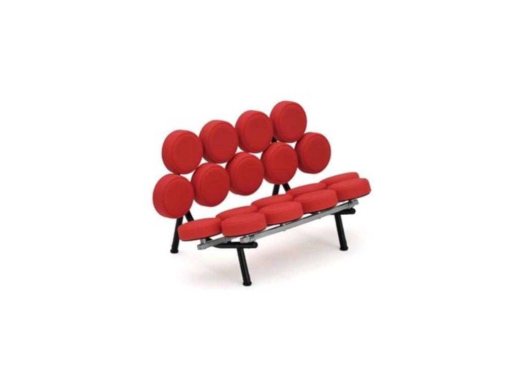Designová pohovka Marshmallow Sofa, červená 132 cm