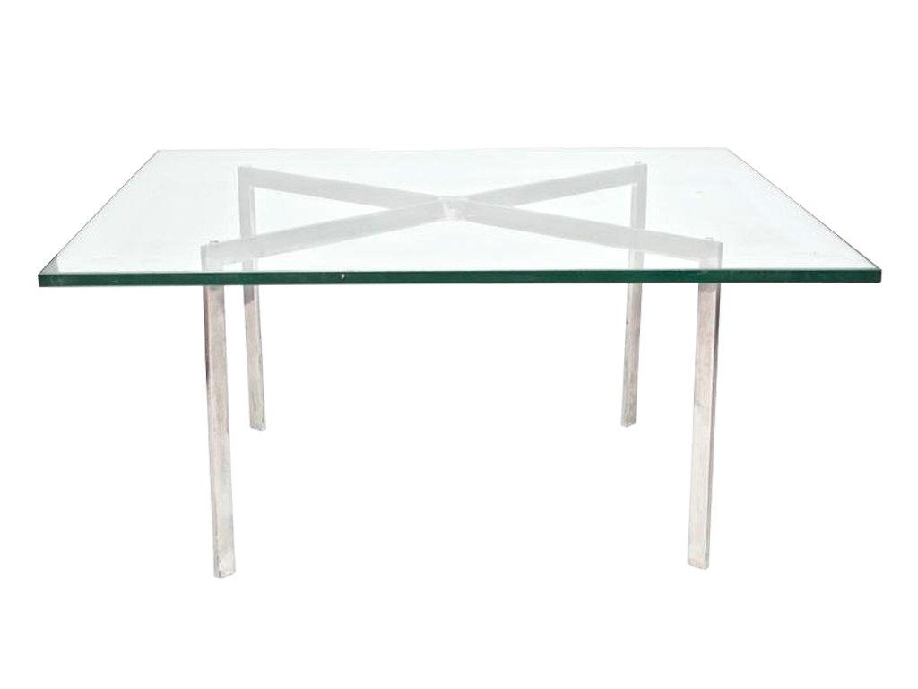 Konferenční stolek Barcelona sklo, 102 x 102 cm