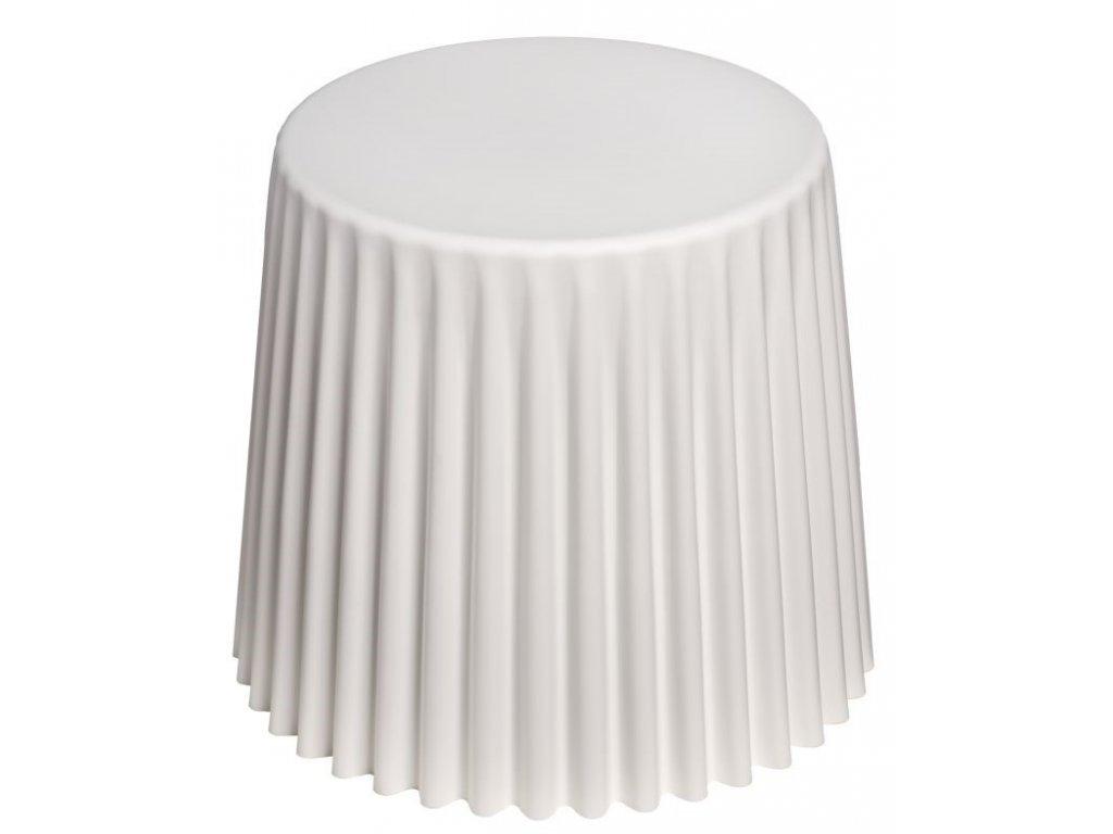 Bílý plastový odkládací stolek Cork 38 cm