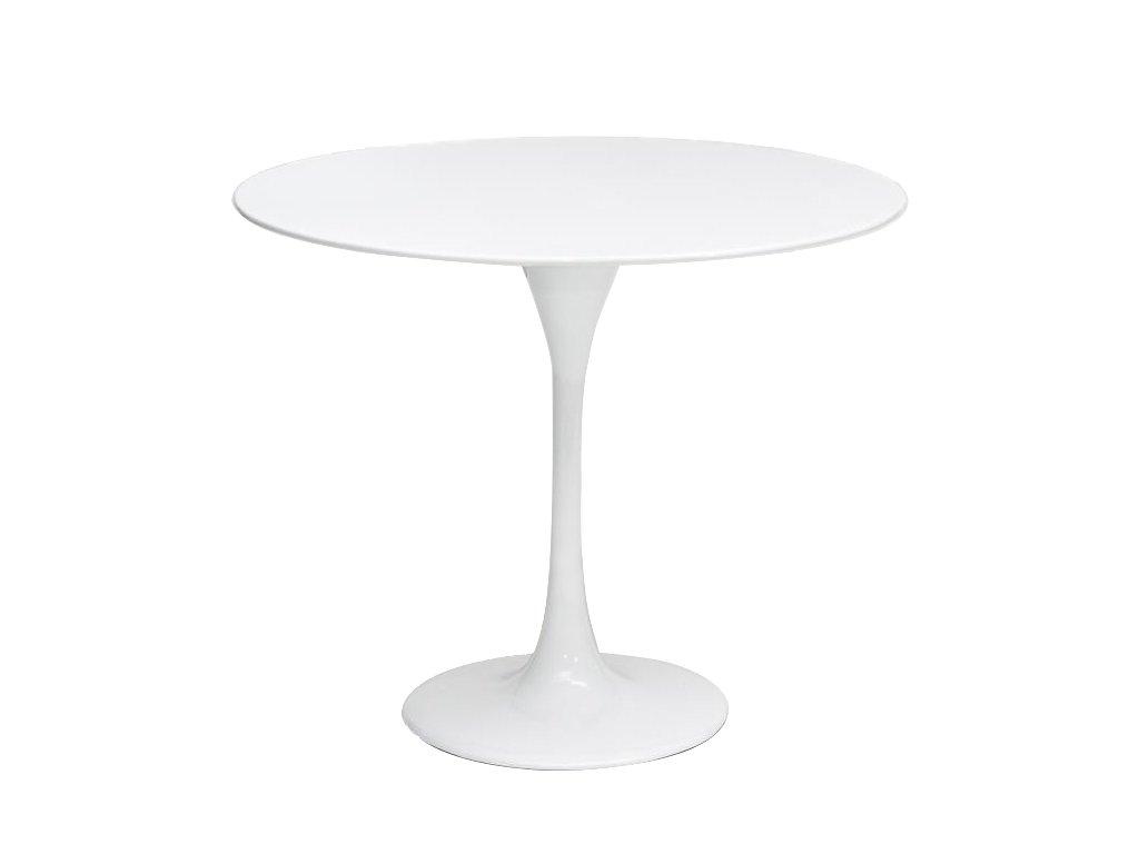 Bílý kulatý konferenční stolek Tulip 60 cm