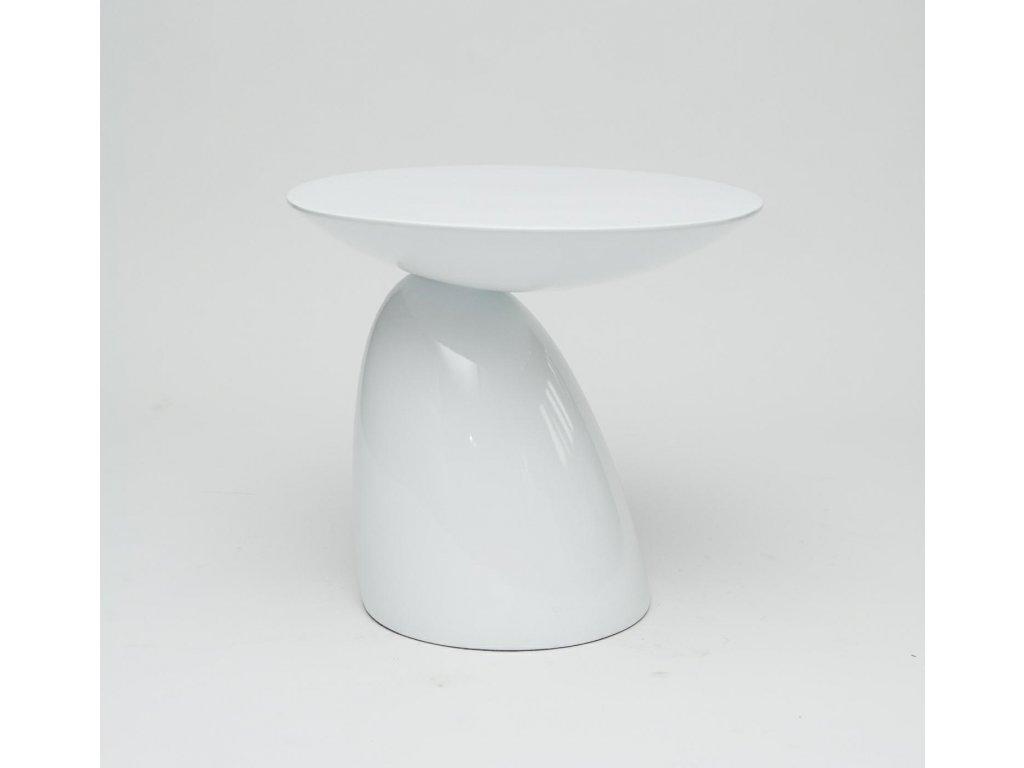 Bílý odkládací stolek Parabel 60 cm