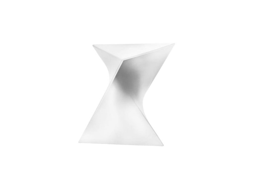 Designový bílý plastový odkládací stolek Zet