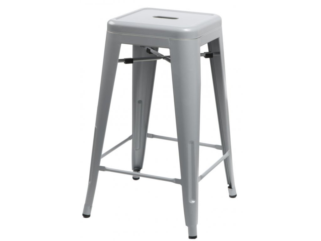 Designová barová židle Tolix 66 šedé barvy