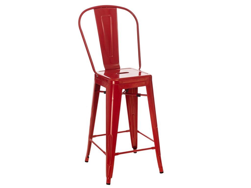 Luxusní červená barová židle Tolix z kovu