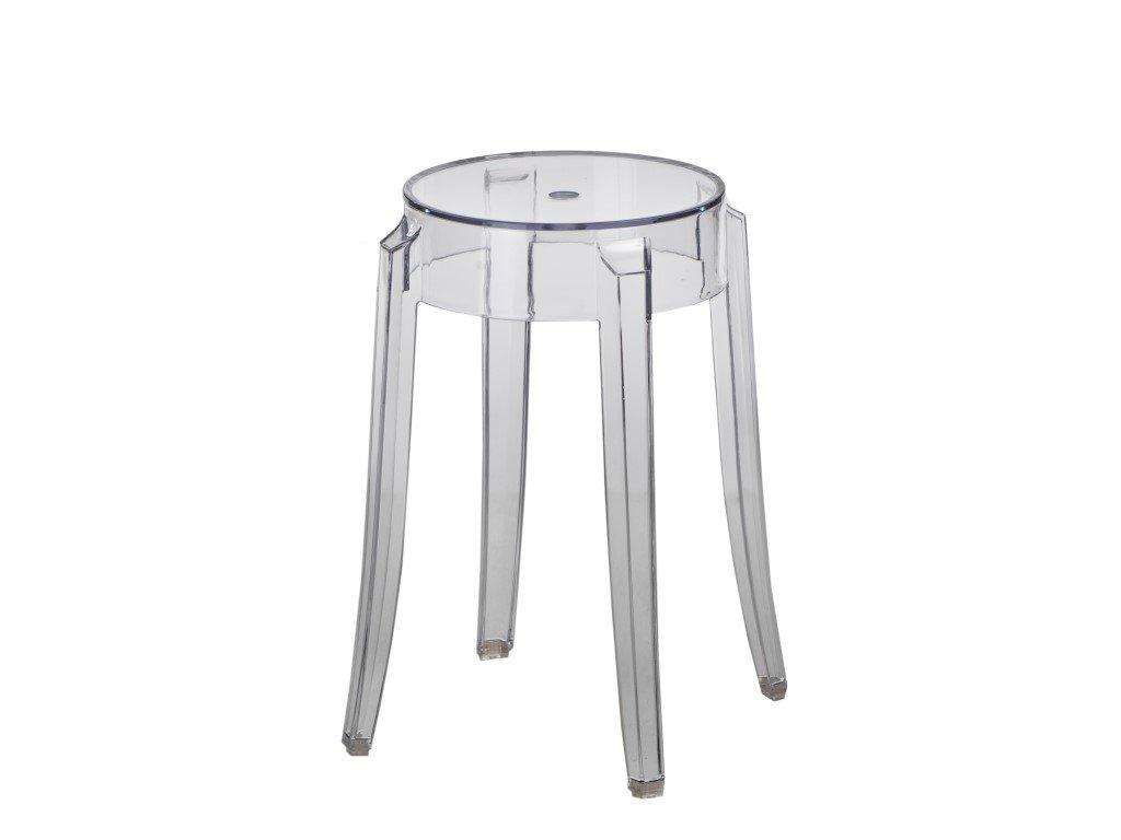 Designová plastová stolička Ghost transparentní